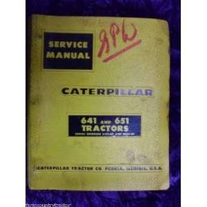 com Caterpillar 641/651 Tractor OEM Service Manual 64F1 Caterpillar