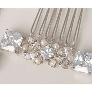 Vintage Inspired Small Rhinestone Bridal Hair Combs