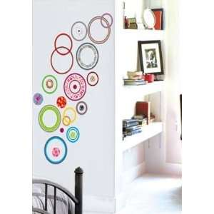 Contemporary Colorful Circles Wall Sticker Decal Living Room Kids Room