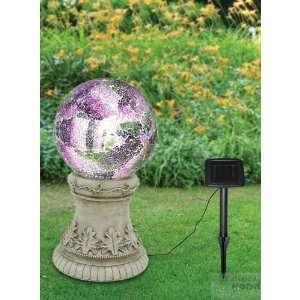 19 Tall Solar Gazing Globe & Stand Patio, Lawn & Garden