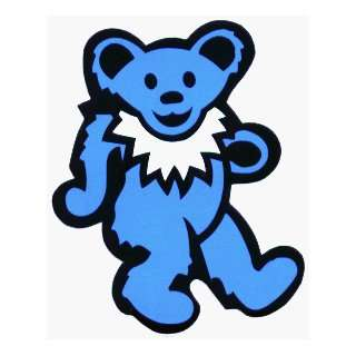 Dancing Bear   Light Blue Bear with White Necklace   Sticker / Decal