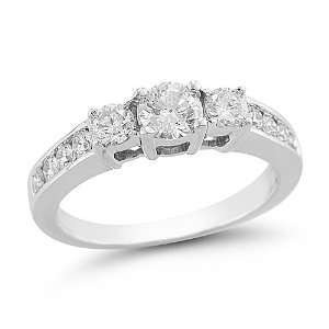 14k White Gold Diamond Engagement Ring (1.00 cttw H I Color, I1 I2