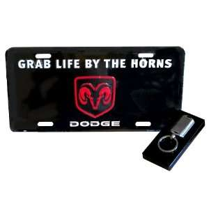 Dodge RAM Grab Life License Plate (with Key Chain