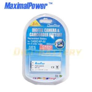Ion Rechargeable Replacement Battery for Casio NB 50