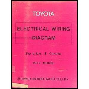 1977 Toyota Electrical Wiring Diagram Original    Choose your model