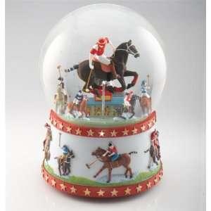 Equestrian Polo Musical Snow Globe