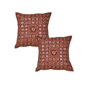 Ethnic Indian Mirror Cushion Pillow Cover Throw India