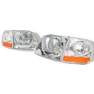 Ford Expedition Headlights Euro Clear Headlights With Corner 1997 1998