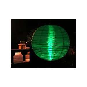 Outdoor Party Lantern Battery Operated 2 LED Green Sports & Outdoors