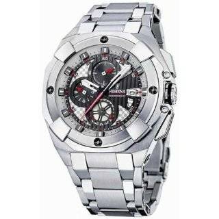 Festina Mens Crono F16351/2 Silver Stainless Steel Quartz Watch with