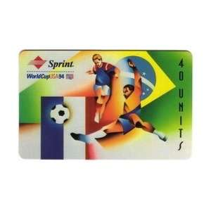 Collectible Phone Card 40u World Cup Soccer 1994   Brazil