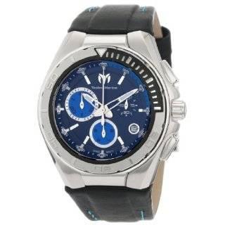 Chronograph Diamond Watch Black Leather Strap (Diamond Wt. 1.02 carat