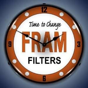 Fram Oil Filter Lighted Wall Clock