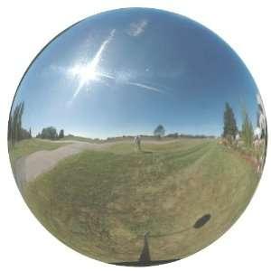 Steel Gazing Globe Ball, Silver, 20 Inch Patio, Lawn & Garden