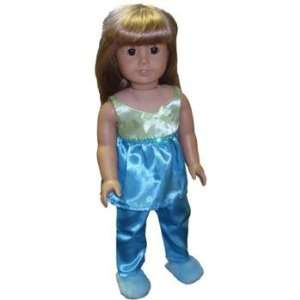 Toy Teal Lime PJ Set for American Girl dolls Toys & Games
