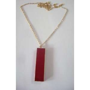 28 Gold Tone Chain Necklace with a 2 Red Pendant Cigarette Lighter