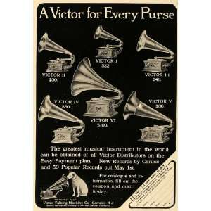 1906 Ad Victor Talking Machine Gramophone Model VI NJ   Original Print