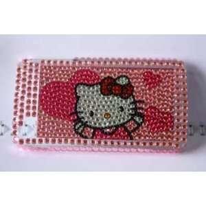 com Ezmarket hello kitty rhinestone bling heart iphone 4 snap on case