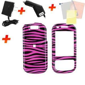 For Samsung Exclaim Hot Pink Zebra Accessory Bundle Electronics
