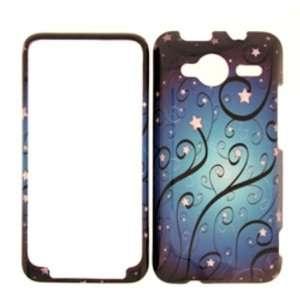 SPRINT HTC EVO SHIFT 4G BLUE STAR SWIRLS COVER CASE   Faceplate   Case