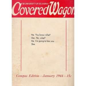 of Oklahoma COVERED WAGON January 1944 Humor Magazine: Everything Else