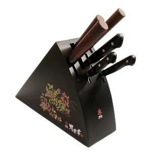 Chef Knife Wood Block, Black Kitchen & Dining