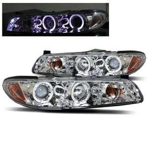Pontiac Grand Prix Halo LED Projector Headlights   Chrome Automotive
