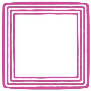 Stripe Border Fucshia 10 inch Square Plates  Kitchen