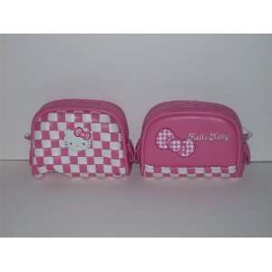 Hello Kitty Pink & White Leather Makeup Tote Toys & Games