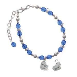 Thats Why with AB Crystal Blue Czech Glass Beaded Charm Jewelry
