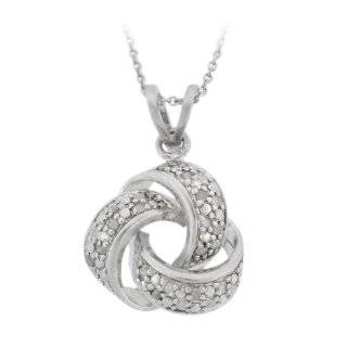 Love Knot Sterling Silver Bond Girl Necklace Jewelry
