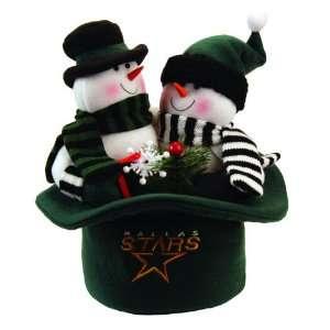 12 NHL Dallas Stars Snowmen Top Hat Table Christmas