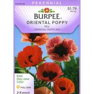 Burpee 32417 Poppy Oriental, Mix Seed Packet Patio, Lawn