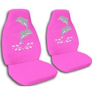 1992 VW Golf car seat covers. Pink seat covers with a two