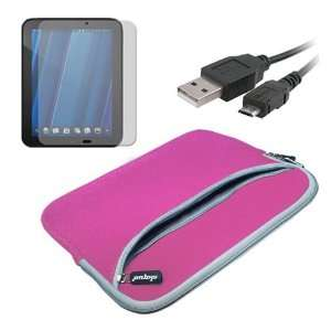 Premium Pink Dual Pocket Carrying Case + Screen Protector