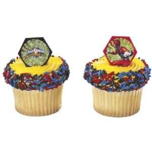 12 ct Power Rangers Red Ranger Cupcake Rings  Toys & Games