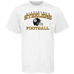 Reebok Pittsburgh Steelers White Youth Stacked Helmet T