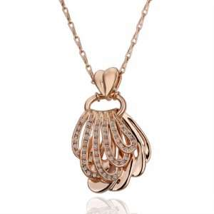Rose Gold Retro Noble 18k Gold Plated Necklace Swarovski