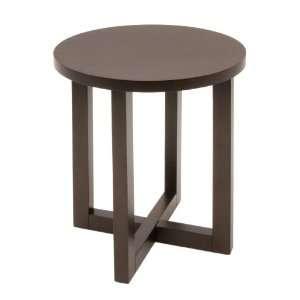 Regency Seating 21 Inch Round Veneer End Table, Mocha