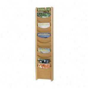 Safco 4331MO   Solid Wood Wall Mount Literature Display Rack, 11 1/4 x