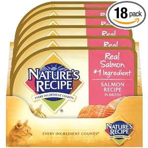 Natures Recipe Cat Wet Salmon, 2.75 Ounce (Pack of 18)