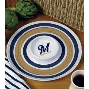 MILWAUKEE BREWERS Team Logo Melamine SERVING TRAY (13 x 4) by Memory