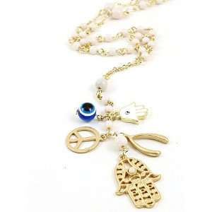 Fashion Jewelry Desinger Inspired Gold with Evil Eye and Hamsa Symbol