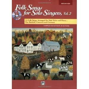 Folk Songs for Solo Singers Medium High Voice, Volume 2 (Book & CD