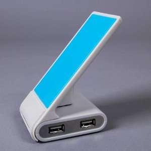 Laptop PC Mini USB 2.0 High Speed 4 Port Hub Blue