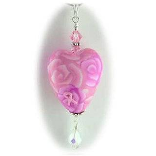 Breast Cancer Survivor Sterling Silver and Cherry Crystal