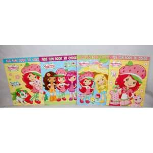 Lot of 4 Strawberry Shortcake Coloring & Activity Book Set