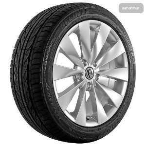 17 Inch Silver 350 Series Wheels Rims and Tires for VW Automotive
