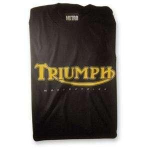 MetroRacing Triumph T Shirt   Large/Black Automotive