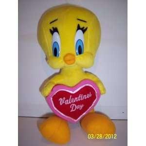 Tweety Bird Valentines Day Plush 13 Inches